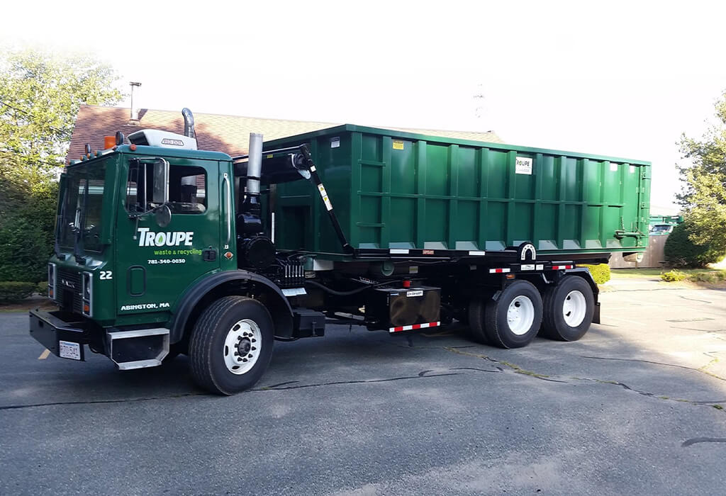 roll off truck Troupe Waste and Recycling