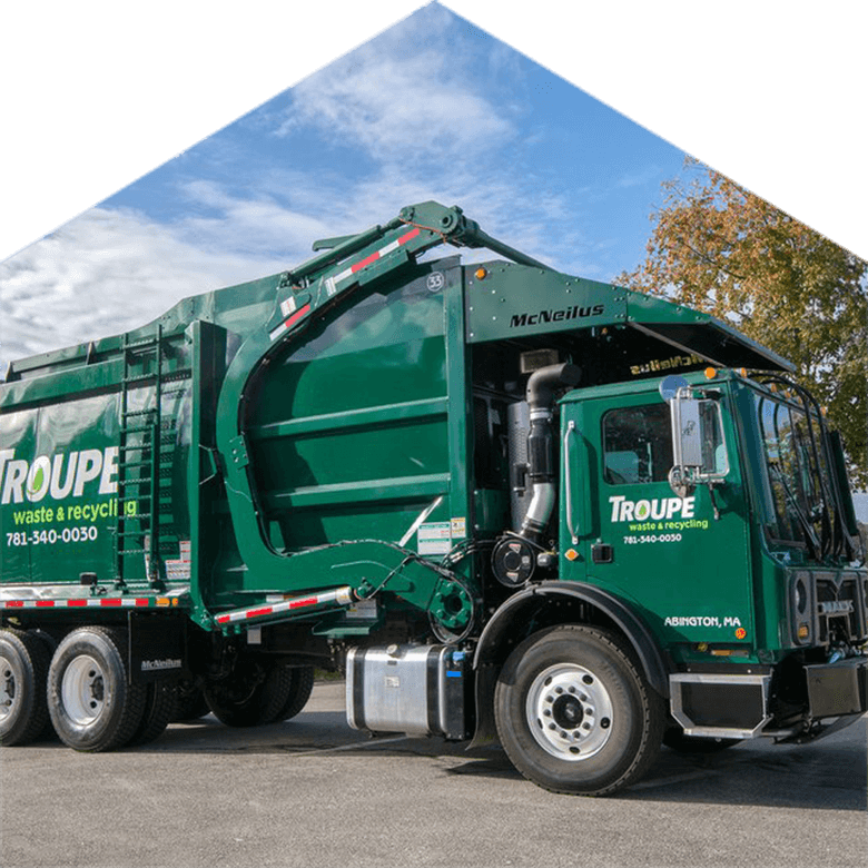 Troupe Waste and Recycling Commercial Dumpster Truck