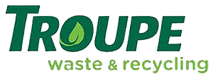 troupe waste logo green